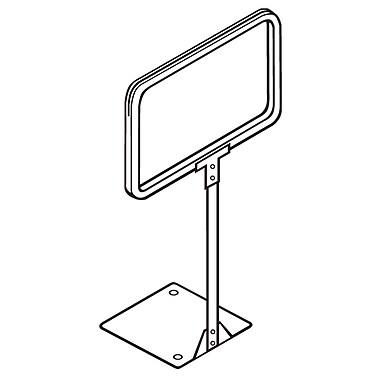 FFR Merchandising ? Cadre pour affiche à tige fixe, 7 x 11 (po), chromé, 2/pqt (3703493302)