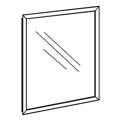 FFR Merchandising Front Load Plastic Sign Frame with Protector, Silver