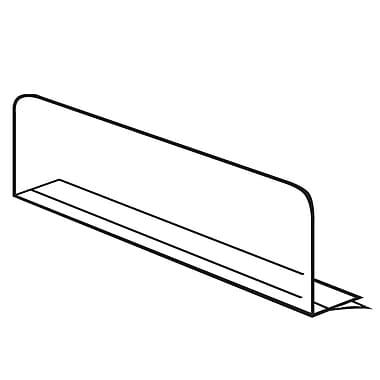 FFR Merchandising ? Séparateur mince, 3 haut. x 16 prof. (po), 14/paquet, (4103740104)