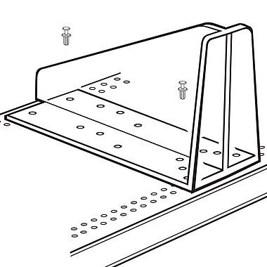FFR Merchandising ? Séparateur de tablette centrale en diagonale, 5 haut. x 10 long. (po), transparent, 9/paquet (4130200800)