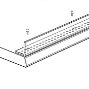 """FFR Merchandising® XTD Extruded Front Fence, 1 1/2""""H x 36""""L, Clear, 2/Pack"""