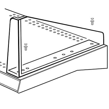 FFR Merchandising ? Séparateur de tablette droite en diagonale, 7 haut. x 10 long. (po), transparent, 9/pqt (4138351702)