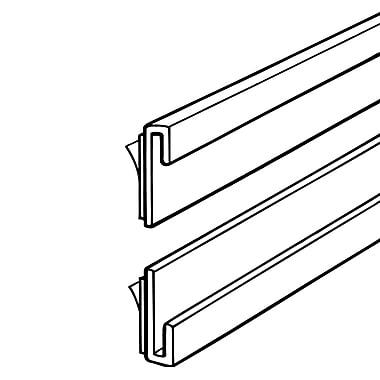 FFR Merchandising - Glissière en J en styrène de 0,13 po, blanc, 7/paquet (4301665602)