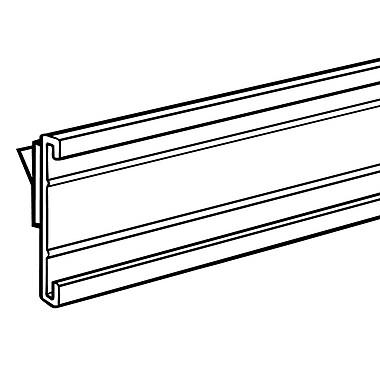 FFR Merchandising ? Glissière en C en plastique blanc avec ruban adhésif, 1,25 x 48 po, 6/paquet (4301780119)