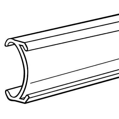 FFR Merchandising - Glissière en C butyrate METC de 1 1/4 po pour étagères Metro, 3 po, transparent, 19/paquet (4301810301)