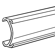 """FFR Merchandising® Butyrate METC 1 1/4"""" C-Channel For Metro® Shelving, 3"""", Clear, 19/Pack"""