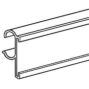 """FFR Merchandising® PVC C-Channel For Double Wire Shelf, 29 1/2"""", White, 5/Pack"""