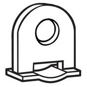 FFR Merchandising Plastic Banner Hanger Clip, White, 87/Pack