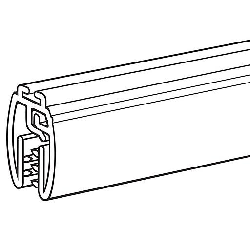 "FFR Merchandising Mercury Designer Series 22"" PVC Banner Hanger with Track, Clear, 6/Pack"