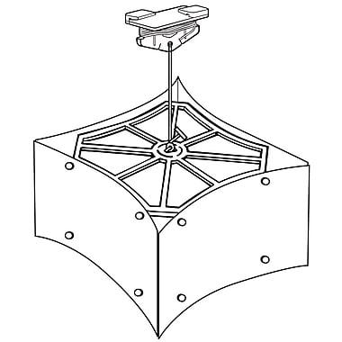 FFR Merchandising ? Trousse de mobile Four Front avec pince de plafond Sure-Twist, 3/paquet (6208025403)