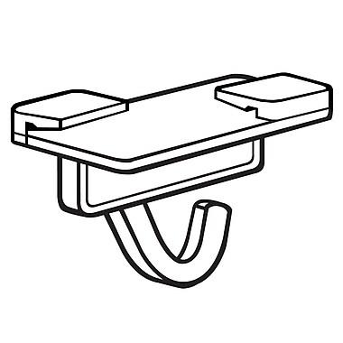 FFR Merchandising Sure-Twist Plastic Ceiling Hook, White, 42/Pack (6407743201)