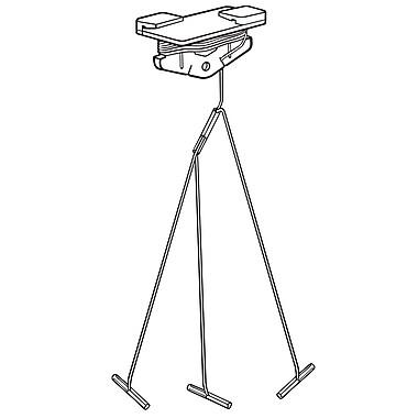 FFR Merchandising® Sure-Twist® 6' Multi-Split 3 Branch Cord Ceiling Clip, White