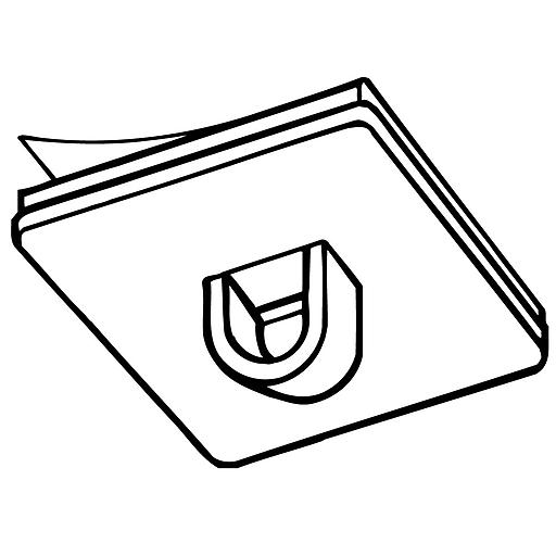 """FFR Merchandising 0.75"""" Plastic Ceiling Loop, 67/Pack"""
