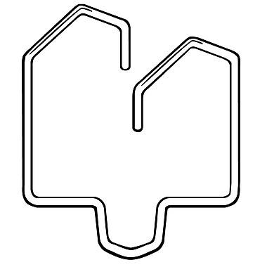 FFR Merchandising Metal Ceiling Hook for Solid Beam, 2/Pack