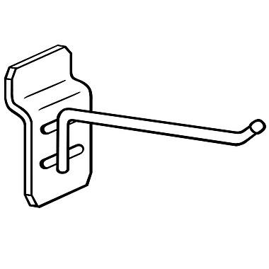 FFR Merchandising® 7 Gauge Metal Slatwall Hook With Ball End, 8
