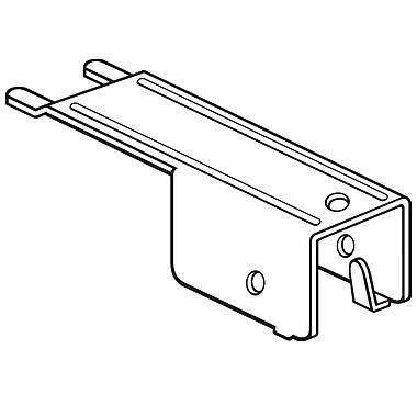 FFR Merchandising ? Support de languette en métal pour tablettes perforées, 4,7 po, zinc, 14/pqt (7902260901)