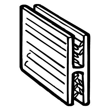 FFR Merchandising ? Pince en H SuperGrip de 1 po, tient jusqu?à 0,08 po épais., 50/paquet (8117602701)