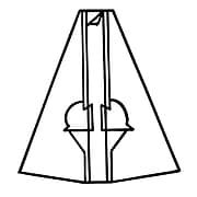"FFR Merchandising® 7"" Double Self-Sticking Cardboard Easel, Black, 14/Pack"