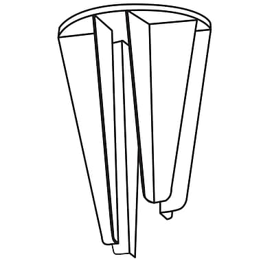 FFR Merchandising ? Pince à 4 côtés pour présentoir en palette, 3,13 po long., transparent, 20/paquet (8208648400)