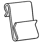 "FFR Merchandising® Polypropylene WC-3 Power Wing Clip™, 1 3/4"" x 1"", White, 78/Pack"