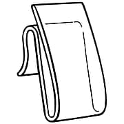 "FFR Merchandising® Polypropylene WC-9 Power Wing Clip™, 2"" x 1 1/2"", Natural, 58/Pack"