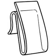 "FFR Merchandising® Polypropylene WC-9 Power Wing Clip™, 2"" x 1"", Natural"