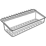 "FFR Merchandising® Hi-Vis® Polycarbonate Shelf Extender, 3"" x 15"" x 4 1/4"", Clear"