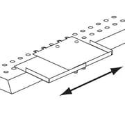"FFR Merchandising® Space-Max™ Metal Adjustable Shelf Extender, 8 1/4"", Beige"