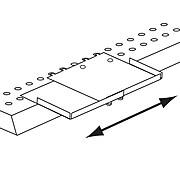 """FFR Merchandising® Space-Max™ Metal Adjustable Shelf Extender, 8 1/4"""", Beige, 3/Pack"""