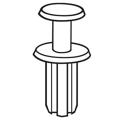 FFR Merchandising® Standard Universal Fastener, Black