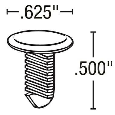 FFR Merchandising ? Attache pour glissière de 0,63 po, naturel, 167/paquet (8532988000)