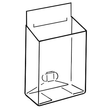 FFR Merchandising ? Boîte à dépliants Pop-Up avec glissière, PVC, 4,5 x 3,75 po, 9/paquet (9108942901)