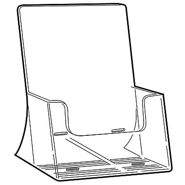 FFR Merchandising - Porte-brochure autoportant Excelsior en styrène, grande capacité, 10,75 x 8,8 po, 2/pqt (9301048001)