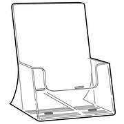"FFR Merchandising Excelsior Freestanding Extra Capacity Styrene Literature Holder, 10.75"" x 8.8"", 2/Pack"