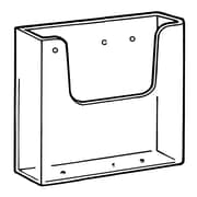 "FFR Merchandising Wall-Mount Styrene Literature Holder, 9.8"" x 8.63"", 2/Pack"