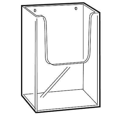 FFR Merchandising Wall-Mount Extra Capacity Styrene Literature Holder, 6.31