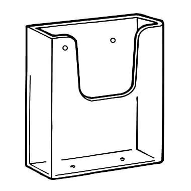 FFR Merchandising Wall-Mount Styrene Literature Holder, 4.12