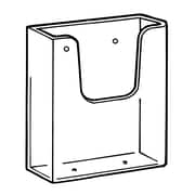 "FFR Merchandising Wall-Mount Styrene Literature Holder, 4.12"" x 6.5"", 4/Pack"