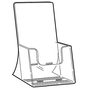 FFR Merchandising ? Porte-brochure autoportant en styrène, grande capacité, 8,25 x 4,18 po, 4/pqt (9308045301)