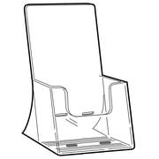"FFR Merchandising Freestanding Extra Capacity Styrene Literature Holder, 8.25"" x 4.18"", 4/Pack"