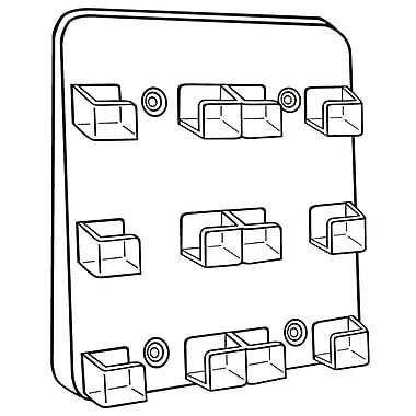 FFR Merchandising Six-Pocket Card Holder, Clear, 2/Pack (9308568951)
