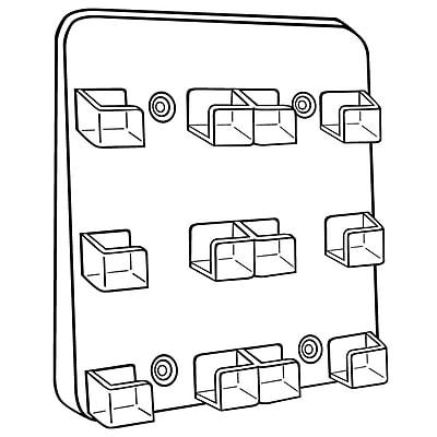 FFR Merchandising® Six-Pocket Card Holder, Clear