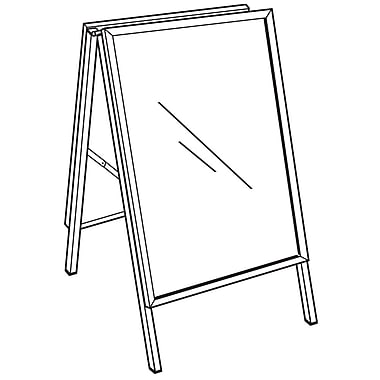 FFR Merchandising Indoor/Outdoor A-Frame Metal Sign Holder, 36