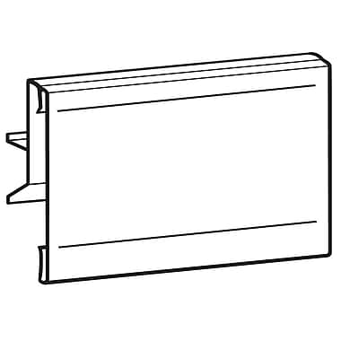 FFR Merchandising Hinged Plastic Sign Holders, 3.5