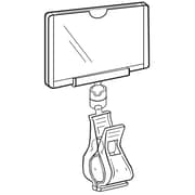 """FFR Merchandising® 2 1/2"""" x 3 3/4"""" Clip-On Sign Protector, White Knuckle"""