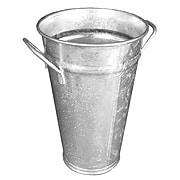 """FFR Merchandising® Galvanized Metal Floral Bucket, 7""""Dia x 12""""H"""