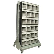 "FFR Merchandising® 58"" Storage Cart With Tip Out Bins, Gray"