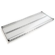 "FFR Merchandising® Interlock™ 48"" x 18"" Heavy Gauge Steel Wire Shelving System, Chrome"