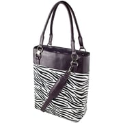 "Women in Business 15.25"" x 12"" x 5.5"" Bonita Classica 15.6"" Vertical Laptop Case, Zebra/Royal Purple"