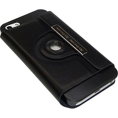 Premiertek Magnetic Flip Hard Shell Case With Multi Rotation Viewing Angle For iPhone 5, Black